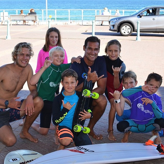 Rad that the Bondi Grom Surf Academy had a chance to rip around on the Minnow! Good vibes to the crew @kaloea for sharing the stoke! #NetsToDecks #Makewaves #Australia @timsrfrider