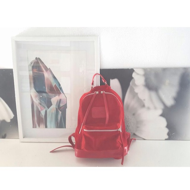 Mini Navajas roja // gamuza y cuero