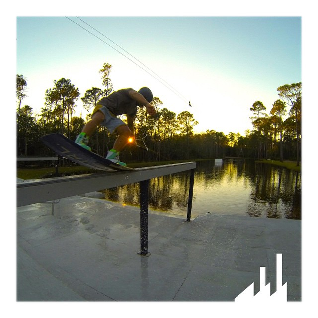 There is just nothing quite like riding a #wakeboard in December!  @Keith_Lidberg getting in a couple more hits out at this private lake #Area52 somewhere in #Florida.  #WhyCTRL #InCTRL #CTRLwake #Wakeboarding #Sunset #NosePress