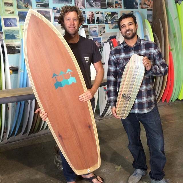 I ran into my friend and constant source of inspiration, @dannyhess  while visiting @stretchboards  Check out his work at hesssurfboards.com and see for yourself!  #recycledskateboards #irisskateboards #hesssurfboards