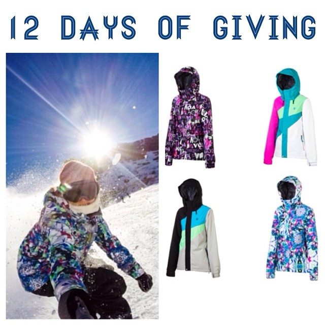 12 DAYS OF GIVING // Volcom DAY 11: @Volcom has outdone themselves this year with the raddest @volcomwomens outerwear jacket we've seen all season!  The SLOGAN INS jacket comes in 5 color ways and we l o v e them all! #TeamB4BC rider @elenahight shows...