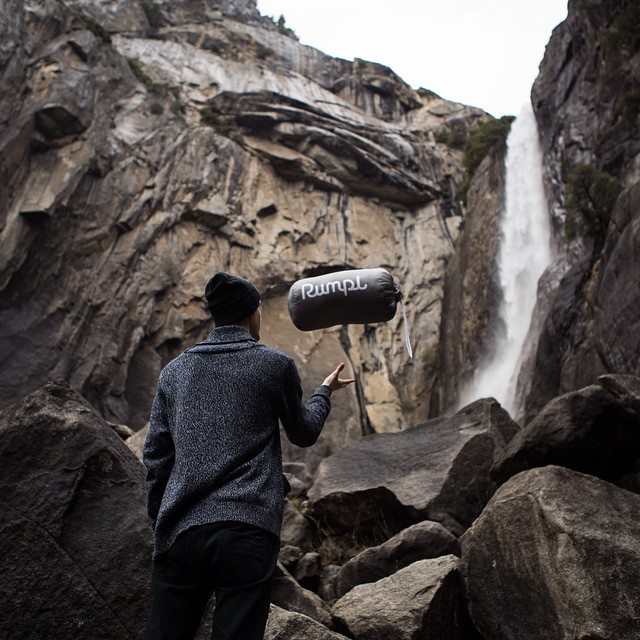 I bet you I could throw this here Rumpl over that there waterfall. #IfCoachHadPutMeIn