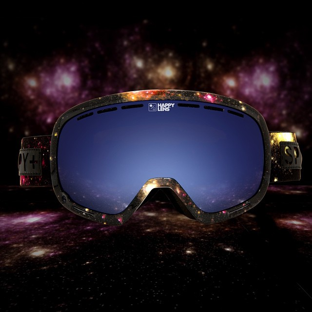 Perfect your goggle tan this spring in the cosmic mayhem Marshall snow goggle with #HappyLens.  Available now through the link in our bio.  #SEEHAPPY