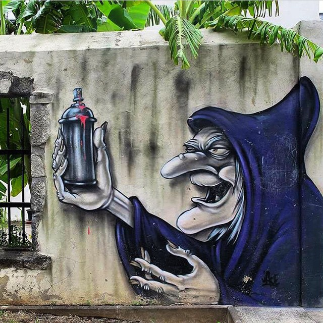 Work by @jaceticot from Reunion Island, France #sleepingbeauty #witch #dope #streetart