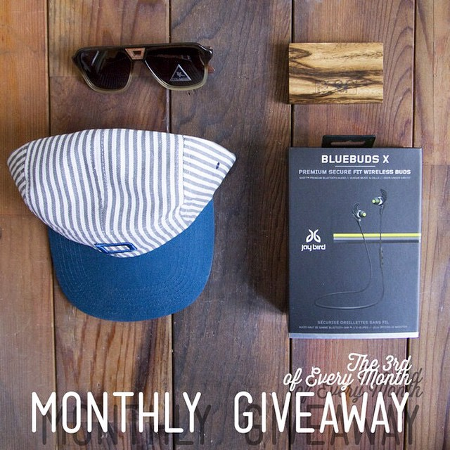 We teamed up with our friends at @jaybirdsport for our Monthly Instagram Giveaway!  Winner will receive: The Donner Sunglasses ($125 value), Block Wood Wallet ($20 value), Ruth 5 Panel Hat ($25 value) & BlueBuds X Bluetooth Headphones from...