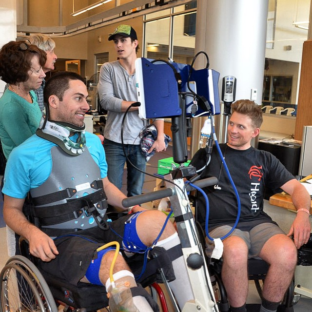 Your attitude determines you altitude! Matt Leonard & Jim Harris officially meeting @ #CraigHospital #HighFivesAthlete
