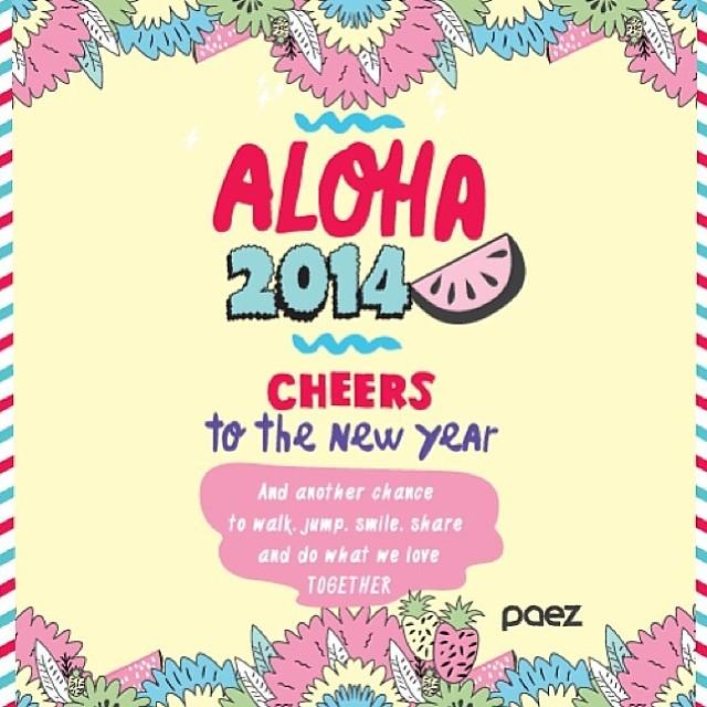 Una nueva oportunidad para empezar un nuevo año haciendo lo que nos gusta. Chin chin de todo el team #PAEZ #newyear #nye #2014