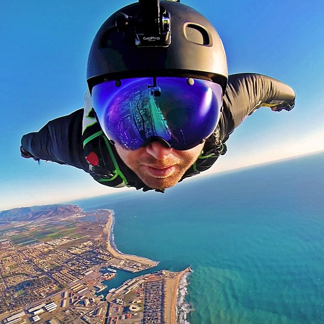 Beach flights. Photo: @griffinturner88 #gopro #gopole #gopolearm #skydiving