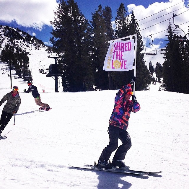 Will you be joining us for the Tribute Ride at @MammothMountain this weekend to take a lap in honor of those affected by #cancer?  Who do YOU ride for?  #shredthelove #mammothstories