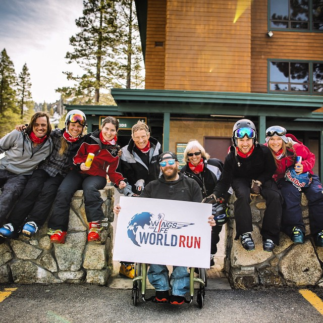 Yesterday was grand! So pumped to ski with #highfivesfoundation advisory board member @myshellparker & multiple #HighFivesAthlete 's to support @wflworldrun @redbull @redbulltahoe #wingsforlife #NorthstarGives #EpicPromise #DoingGoodWhileHavingFun...