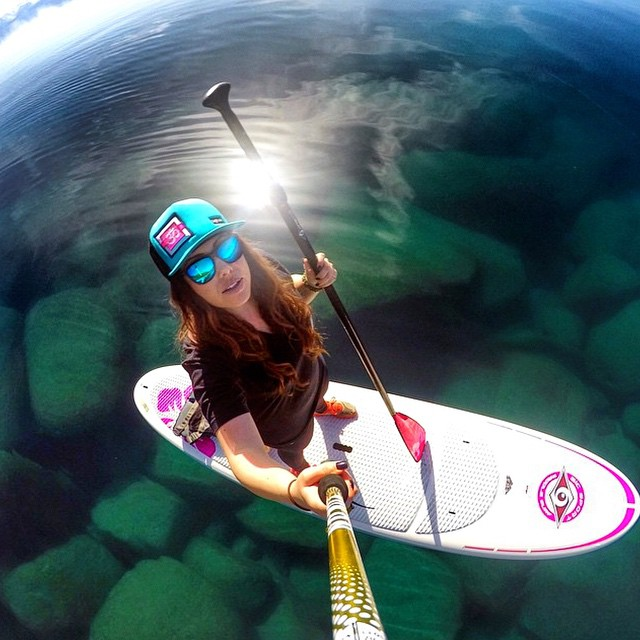 Stand up paddle boarding with @renodiamondnv! She's rocking the Surf Triple Set! If you love being on/around the water make your pledge today on Kickstarter for our new Floatable Sunglasses