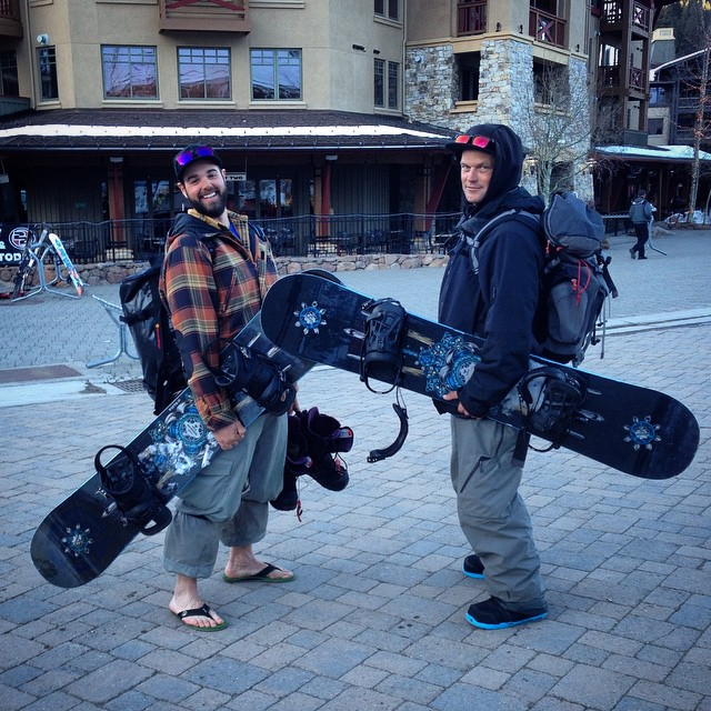 #Bigmen in town #thriveprocoach #renegade 160cm #squawvalley #thriving #psiaaasiwest #snowboard #instructors