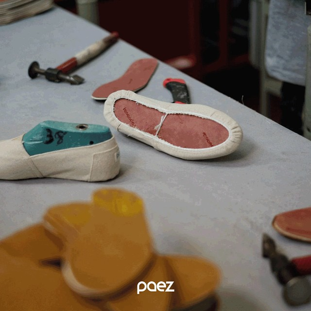 Labour of love: At #Paez Factory we develop each component using only the best materials: 100% cotton fábrics & (of course) pure argentinian leather insoles.