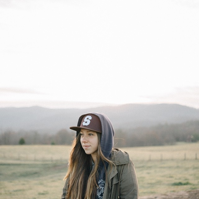 @angela_marshall rocking the Varsity Cap on a recent trip to the Smokies. What are you exploring this weekend? #salemtownboardco #SkateTheEdges