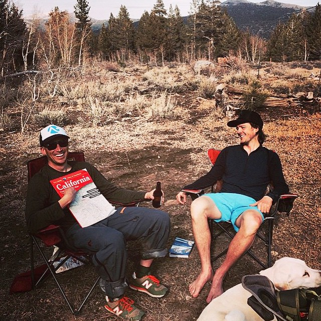 Flylow Tahoe office doing some super serious brain storming after a big tour. @flylowdan @flylowgreg