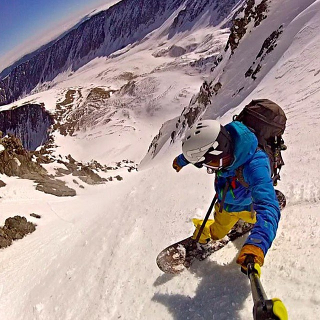 Who cares if it is the first day of spring!  More of a reason to #shred.  SR athlete @justnibarra took advantage of some corn snow! #eleven #14er #skicolorado