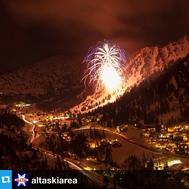 No better way to ring in the New Year than partying at Alta! Wish you all the best this year Roxa friends! #Repost from @altaskiarea