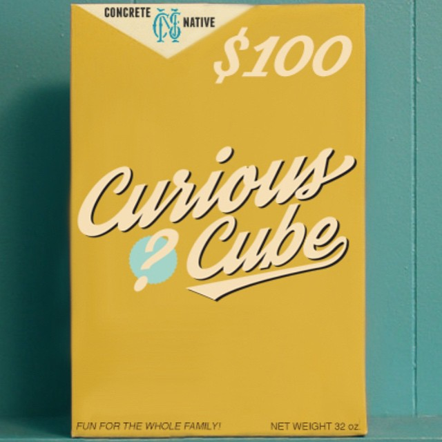 "Do you trust us?  Concrete Native would like to introduce ""The Curious Cube"" a variety of products for one great price. The $100 Curious Cube will include: SWEATSHIRT / 3 SHIRTS / HAT / BEANIE  No box will be the same at this $150 value. At the..."