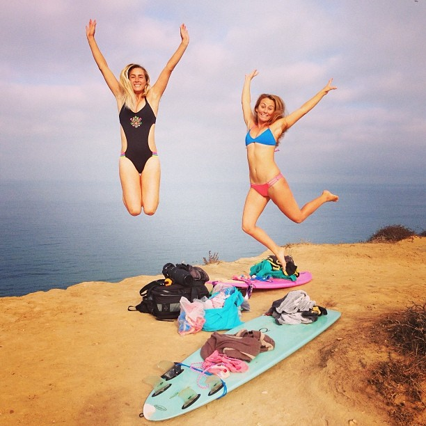 Happy New Years! Make 2014 your year to rise above your challenges! @alisonsadventures and @annaehrgott in our 2014 #Azure #boho and #BandsofLove #OnePiece