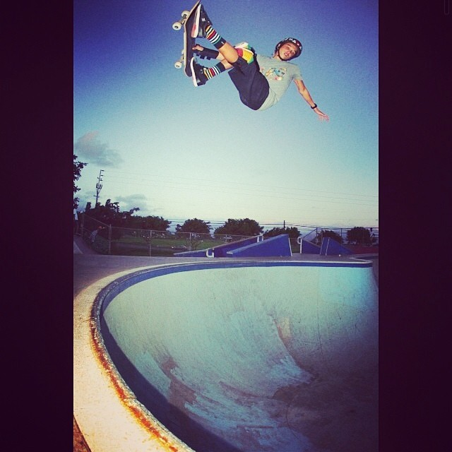 RegrAm @heimana_reynolds . #fsair #heimanareynolds #s1 #lifer #helmet #skateboarding #808skate @properrideshop
