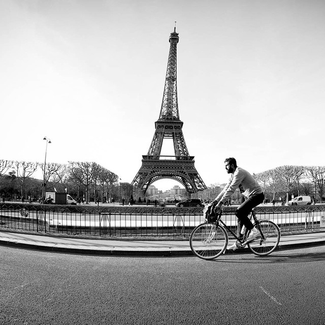 Riding bikes around Paris today with #ElementAdvocate Chad Eaton (@timberps) in preparation for the #NorthernWheelsTour bike trip from Paris to Brussels tomorrow >>> #ElementxTimber Photo: @wizardstatus