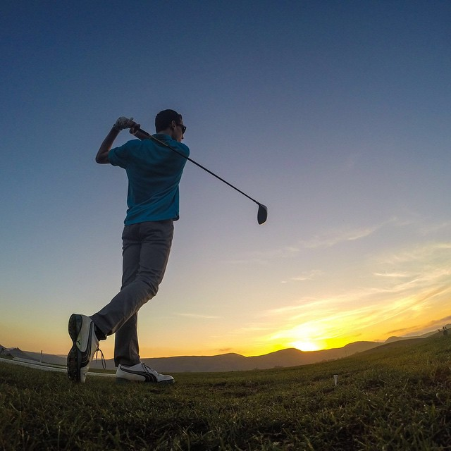 Photo of the Day! Sunset at the driving range. Photo by @neilholliday.  #GoPro #Golf