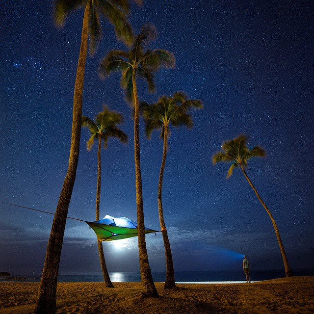 Camping on the beach under the stars. Is the anything better? #GetOutStayOut  Photo: @travisburkephotography