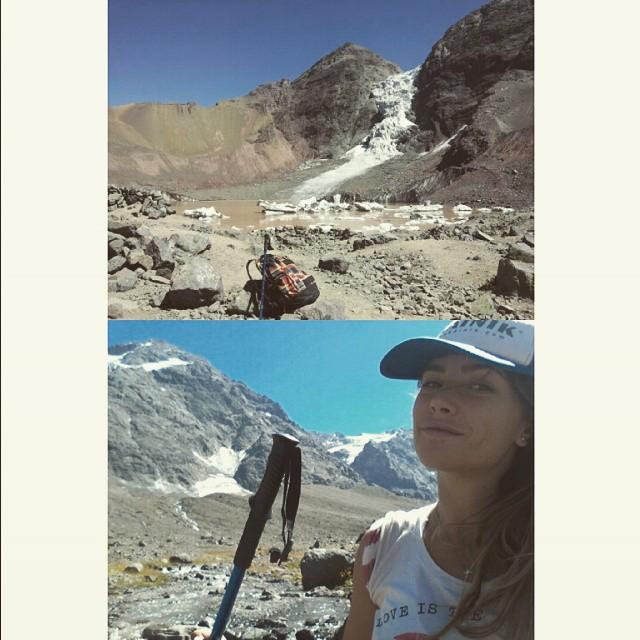 3200km de altura, 6hs de trekking para ver el Glaciar Colgante. Durmiendo en un refugio en un pueblo de 20 habitantes.  Viva Chile!!! #chile #CajonDelMaipo