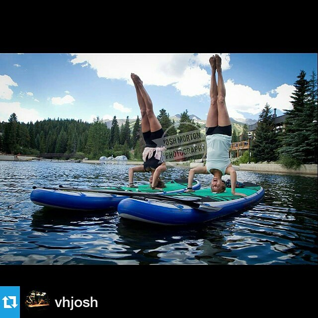 A #Repost from @vhjosh. Headstands on the #halanass. ・・・ I have been shooting #supyoga for the past several weeks and this is one of my favorites so far... Shelby Robicheaux and Rachel Menard enjoy some inverted yoga poses Tuesday, August 19th, 2014 on...