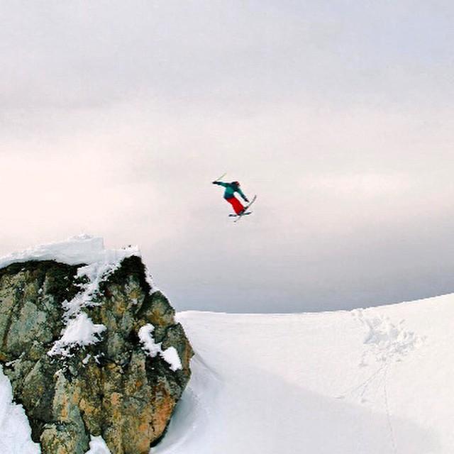 Crash testing with team rider Hugues Rousseau #iloveskiing #earnyouturns #alps #freshairandfreedom #bigmountain #neverstopexploring