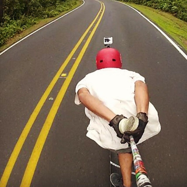 @carlosm_dmcr on a downhill run through the jungle of Costa Rica.