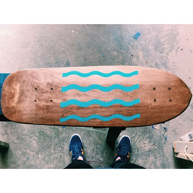 Summer vibes in the shop today. #handmadeskateboard #Nashville