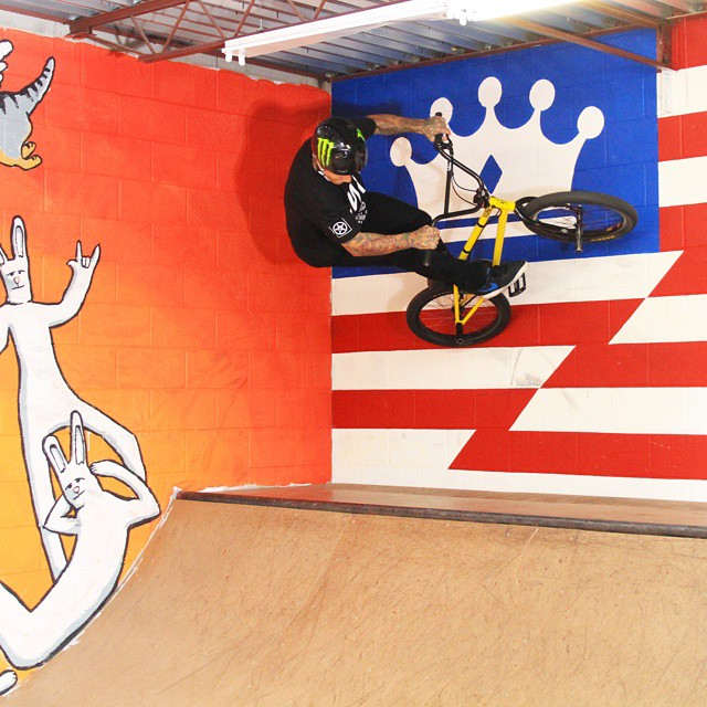 Three-time ❌ Games gold medalist @kylebaldock1 is crankin' it up at @empirebmx in North Austin! #ATXtakeover (