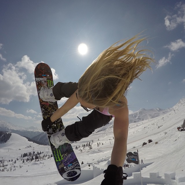 @jamieanderson lands some pretty sweet tricks upon a snow castle. Learn more at GoPro.com/news #GoProGirl #NineQueens