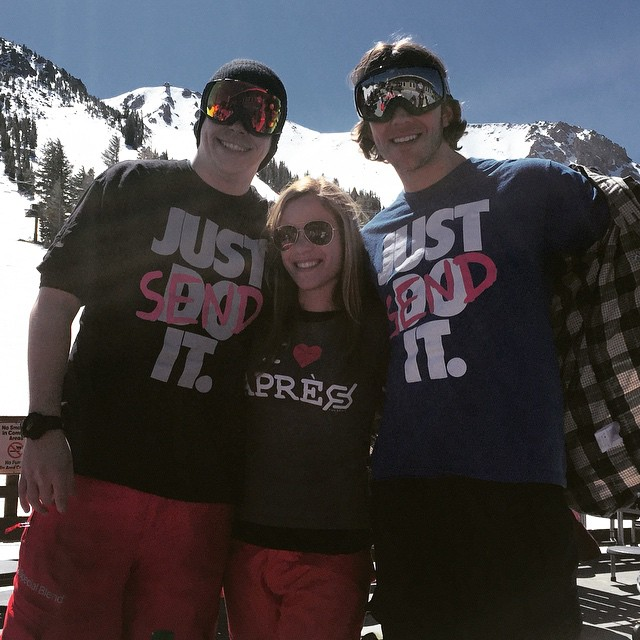 Repp'n from #mammoth #JustSendIt #snowboarding #skiing #iloveapres @aramze30 @lacey.ramsey