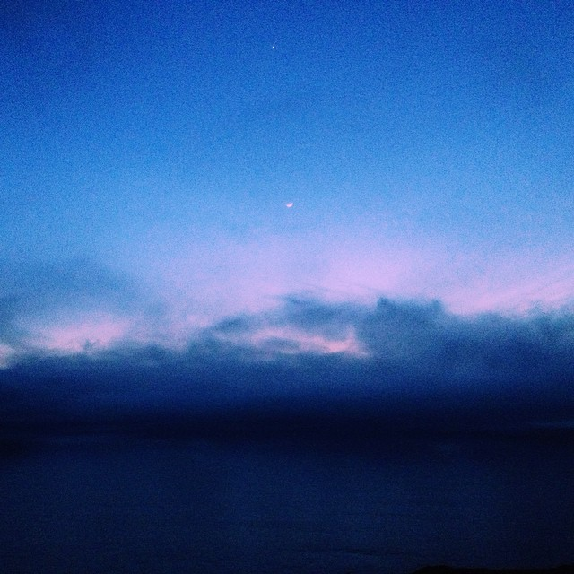 Last night's sky kissing the sea g'night