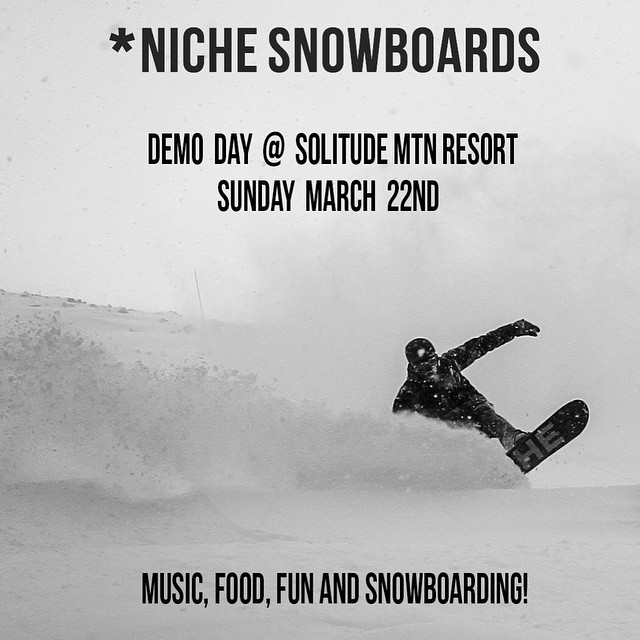 Come hang out with us up at Solitude today for a slushy, Sunday funday! #findyourniche