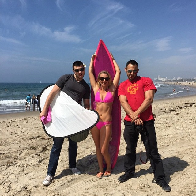 @alisonsadventures #shooting with @time #magazine! #sundayfunday -- wearing our #kalinda #top and #bohoshort in #akala #pink! shop.odinasurf.com/p/Kalinda-top