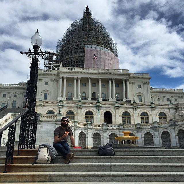 Patriotic Lunch @mcelberts #DC #WashingtonDC #CapitolBuilding