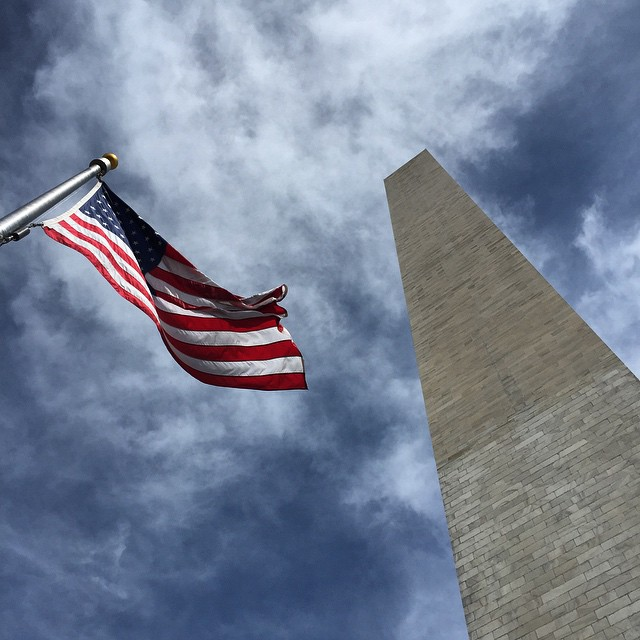O say can you see ... #WashingtonDC #walkingtour #washingtonmonument #america #usa