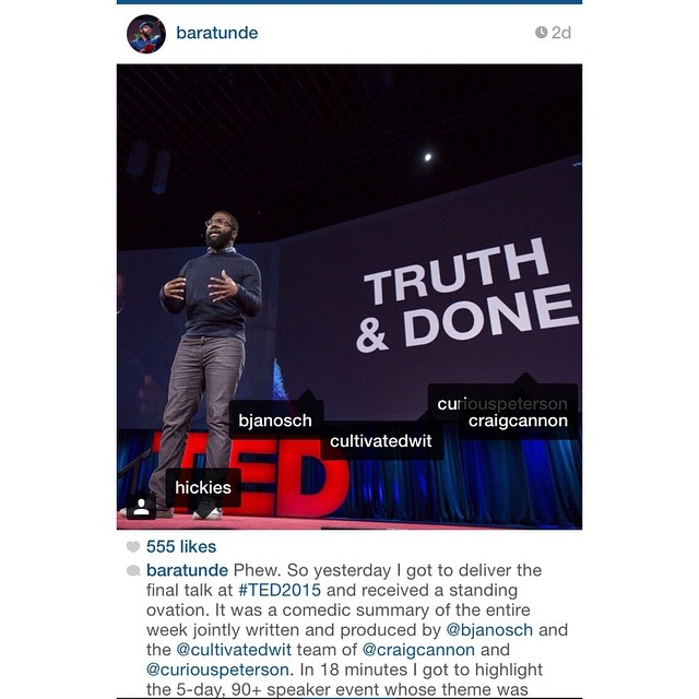 The most hilarious summary we've ever heard. Another angle of @baratunde recapping #TED2015 wearing HICKIES Elements. Read all about it in our blog (link in bio)