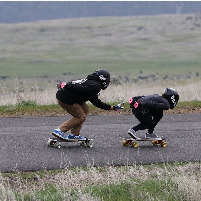 @theerichoang and @carlajavier.b taking fun runs making sure #Maryhill smells right pic @rgvlongboarder #keepitholesom