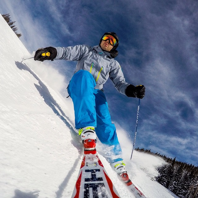 Photo of the Day! GoPro employee @jbernbau carving up @beavercreek on a bluebird day. #gopro #ski #bluebird