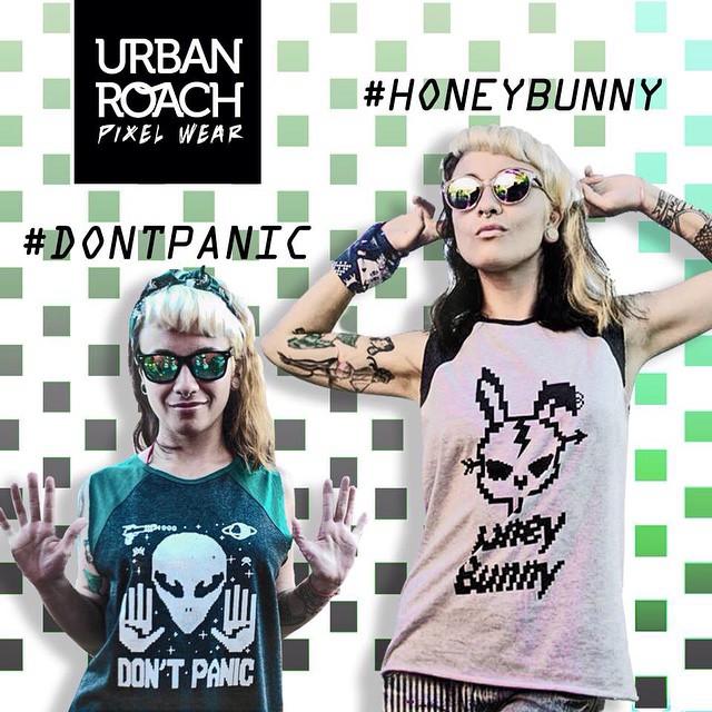 #honeybunny & #dontpanic #style #pixelart #bunny #ufo #ovni #fashion #design