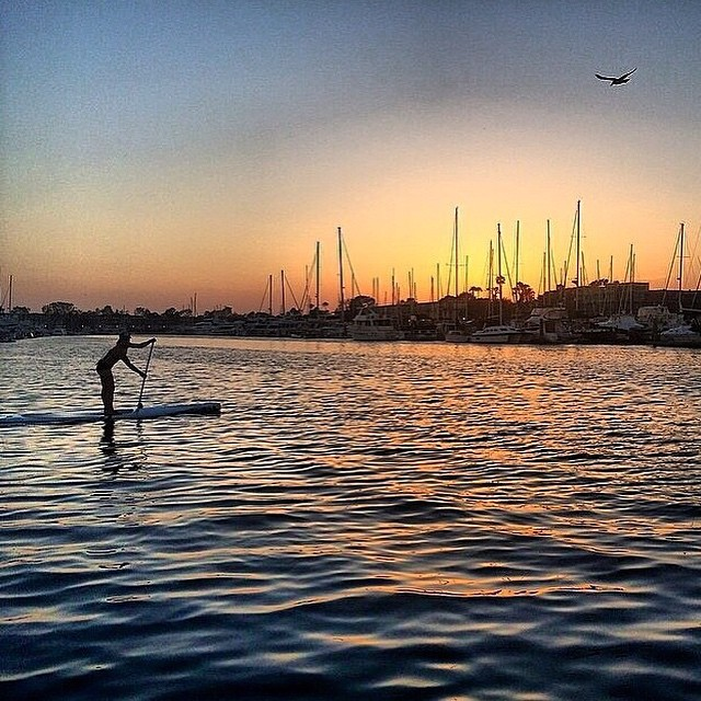 Our #muse @smskier knows that life is way better on the water. Perfect #supgirl and #sunset caught by @zsphotonomad