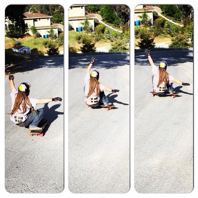 Team rider Adrian Da Kine--@adrian_da_kine sitting down and getting down!