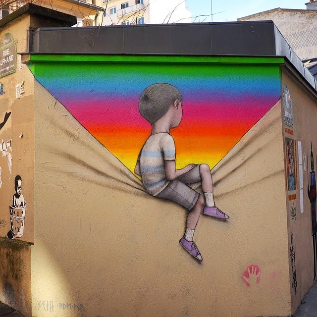 Never sit on your dreams, make them a reality | Work by @seth_globepainter | #fulfillyourdreams #awesome #mural #streetart