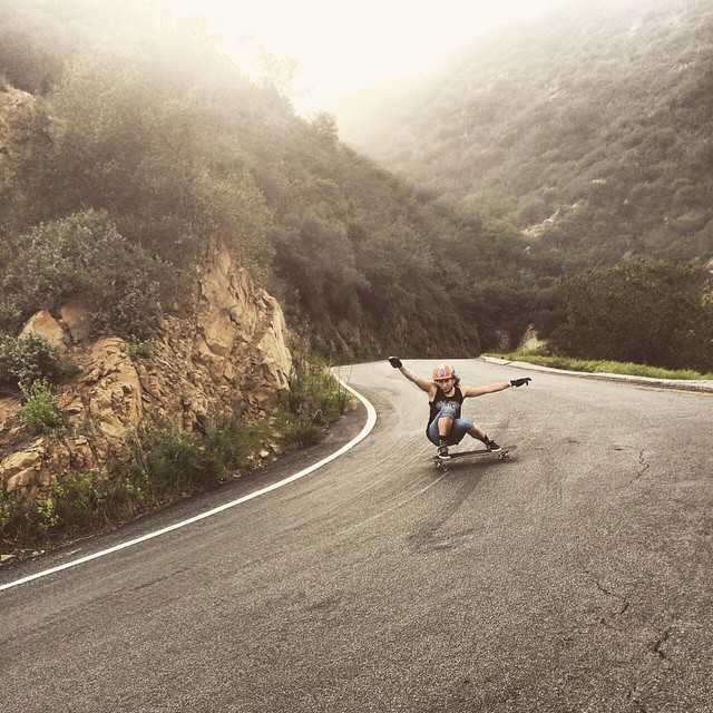 @carmen_sutra hanging it sideways down everyone's favorite Malibu road.