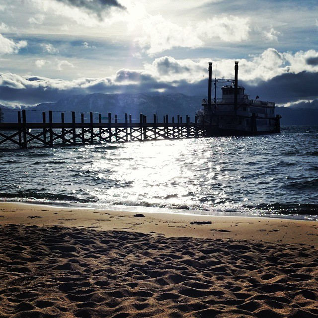 Windy day in #tahoe today.  New dock being built for the summer at Zephyr Cove Resort. @tahoesouth #thedixie #onthewater #beach #getoutdoors #summerscoming #zephyrcove #graniterocx