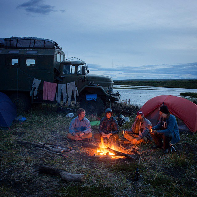 Cold nights, warm fires, cozy sleeping bags and full batteries. #GetOutStayOut  Photo: @chrisburkard